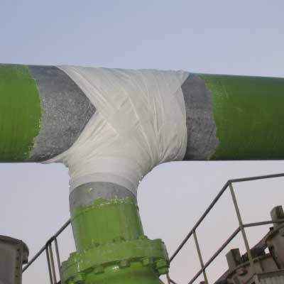 تعمیر لوله پتروشیمی با بانداژ آب بندی